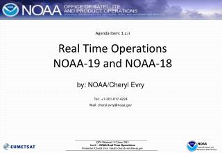 Agenda Item: 1.c.ii Real Time Operations  NOAA-19 and NOAA-18