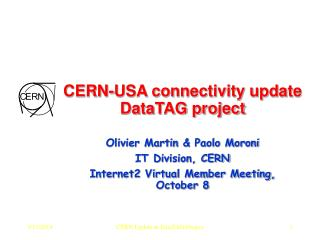 CERN-USA connectivity update DataTAG project
