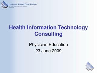 Health Information Technology Consulting