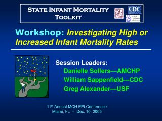 Workshop: Investigating High or Increased Infant Mortality Rates