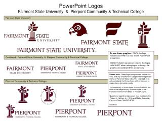 PowerPoint Logos Fairmont State University  &  Pierpont Community & Technical College