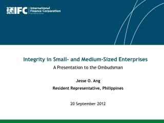 Integrity in Small- and Medium-Sized Enterprises