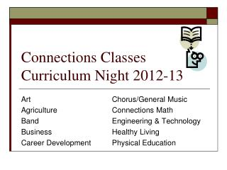 Connections Classes Curriculum Night 2012-13