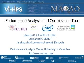 Performance Analysis and  Optimization  T ool