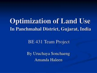 Optimization of Land Use