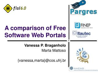 A comparison of Free Software Web Portals