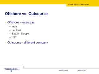 Offshore vs. Outsource