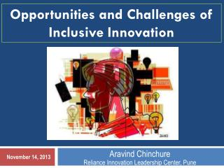 Aravind Chinchure Reliance Innovation Leadership Center, Pune