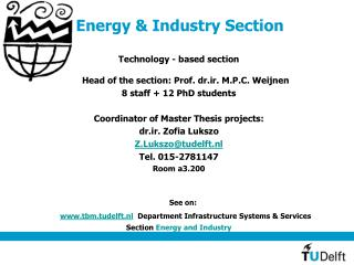 Energy & Industry Section