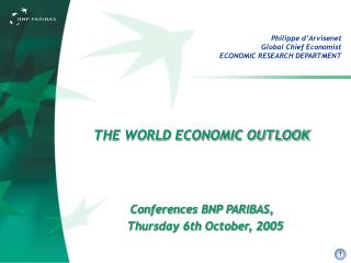 Philippe d'Arvisenet Global Chief Economist  ECONOMIC RESEARCH DEPARTMENT