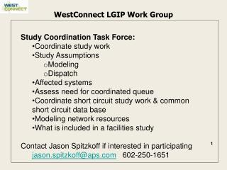 WestConnect LGIP Work Group
