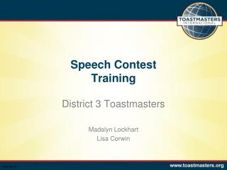 Speech Contest  Training