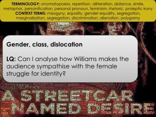 Gender, class, dislocation