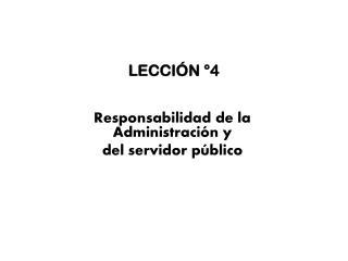 LECCIÓN °4