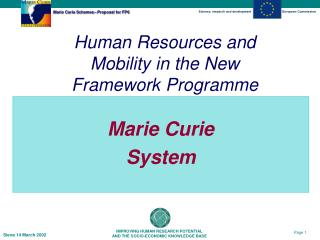 Marie Curie  System