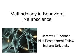 Methodology in Behavioral Neuroscience