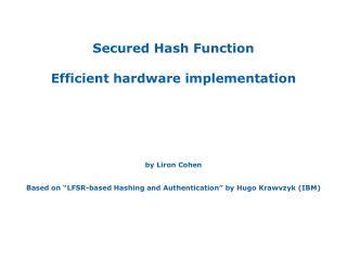 LFSR-based Hash