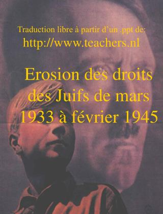 Traduction libre à partir d'un  de: teachers.nl