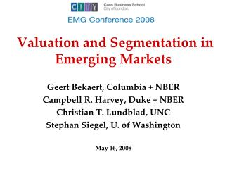 Valuation and Segmentation in Emerging Markets