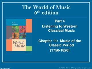 The World of Music 6 th  edition