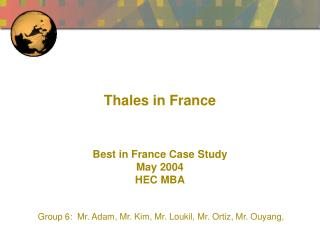 Thales in France