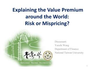 Explaining the Value Premium around the World:  Risk or Mispricing?