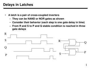 Delays in Latches