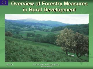 Overview of Forestry Measures in Rural Development