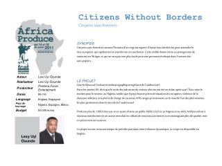 Citizens Without Borders Citoyens  sans frontiers