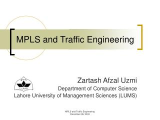 MPLS and Traffic Engineering