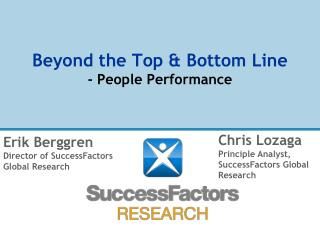 Beyond the Top & Bottom Line - People Performance
