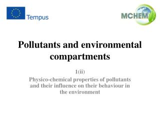 Pollutants and environmental compartments