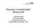 Recovery in mental health: Bexley audit