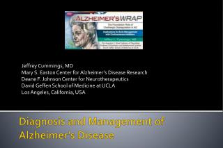 Diagnosis and Management of Alzheimer's Disease