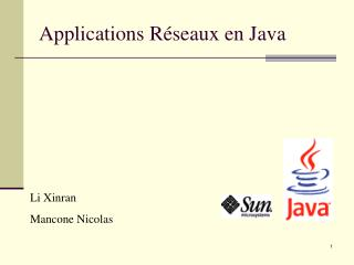 Applications Réseaux en Java
