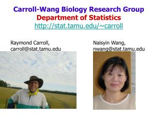 Carroll-Wang Biology Research Group Department of Statistics stat.tamu/~carroll