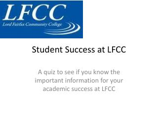 Student Success at LFCC