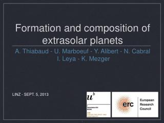 Formation and composition of extrasolar planets