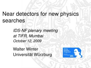 Near detectors for new physics searches