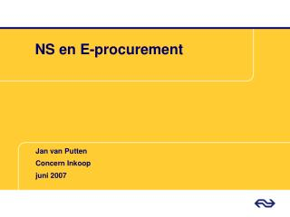 NS en E-procurement