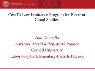 CesrTA Low Emittance Program for Electron Cloud Studies