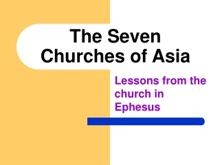 Seven Churches of Asia