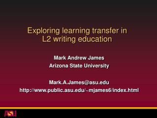Exploring learning transfer in  L2 writing education