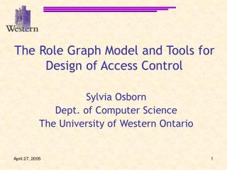 The Role Graph Model and Tools for Design of Access Control