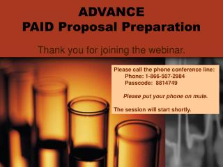 ADVANCE  PAID Proposal Preparation