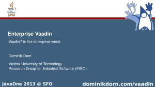 Enterprise Vaadin