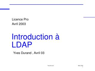 Introduction à LDAP