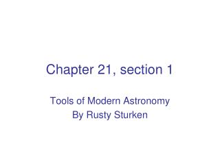 Chapter 21, section 1