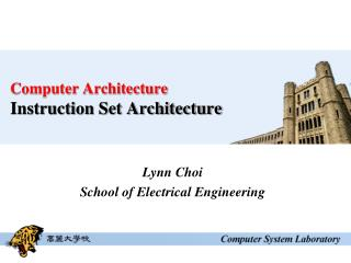 Computer Architecture Instruction Set Architecture