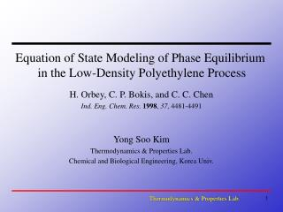 Equation of State Modeling of Phase Equilibrium  in the Low-Density Polyethylene Process
